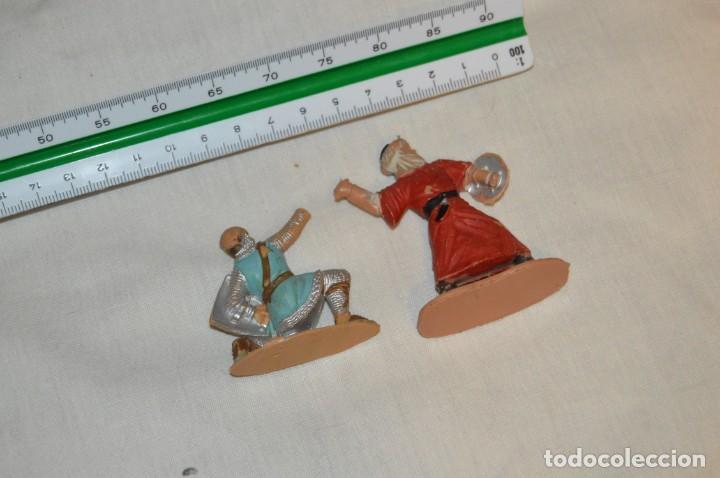 Figuras de Goma y PVC: LOTE SOLDADO MEDIEVAL CRISTIANO 167, SERIE REY ARTURO Y GUERRERO MORO 297, SERIE EL CID - REAMSA - Foto 5 - 147061330