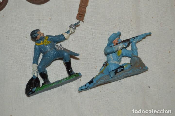 Figuras de Goma y PVC: LOTE DE COMANSI - SOLDADOS FEDERALES - CONFEDERADOS - 7º CABALLERIA - TICO - 1ª SERIE - ENVÍO 24H - Foto 2 - 147062778