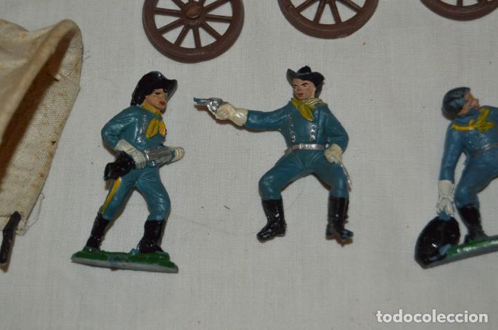 Figuras de Goma y PVC: LOTE DE COMANSI - SOLDADOS FEDERALES - CONFEDERADOS - 7º CABALLERIA - TICO - 1ª SERIE - ENVÍO 24H - Foto 3 - 147062778