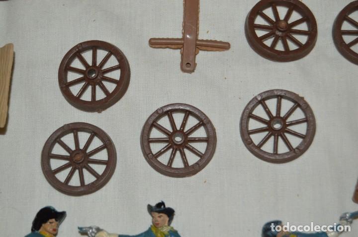 Figuras de Goma y PVC: LOTE DE COMANSI - SOLDADOS FEDERALES - CONFEDERADOS - 7º CABALLERIA - TICO - 1ª SERIE - ENVÍO 24H - Foto 4 - 147062778