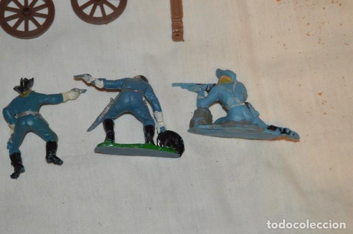 Figuras de Goma y PVC: LOTE DE COMANSI - SOLDADOS FEDERALES - CONFEDERADOS - 7º CABALLERIA - TICO - 1ª SERIE - ENVÍO 24H - Foto 11 - 147062778