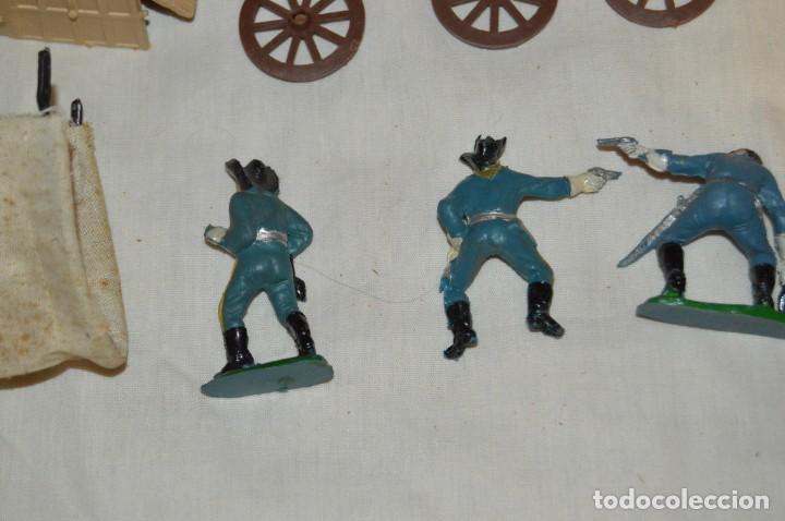 Figuras de Goma y PVC: LOTE DE COMANSI - SOLDADOS FEDERALES - CONFEDERADOS - 7º CABALLERIA - TICO - 1ª SERIE - ENVÍO 24H - Foto 12 - 147062778