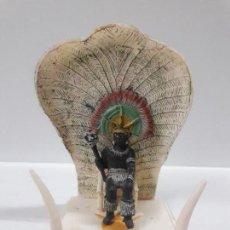 Figuras de Goma y PVC: TRONO AFRICANO . REALIZADO POR GULLIVER - COPIA PECH . REY NEGRO NO INCLUIDO. Lote 147064222