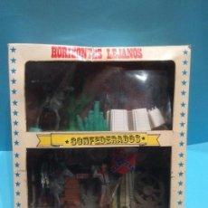 Figuras de Goma y PVC: CAJA DE COMANSI, SERIE HORIZONTES LEJANOS (CONFEDERADOS), AÑOS 70.. Lote 147100450