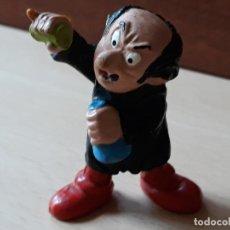 Figuras de Goma y PVC: FIGURA DE GOMA PVC GARGAMEL LOS PITUFOS. Lote 147209550