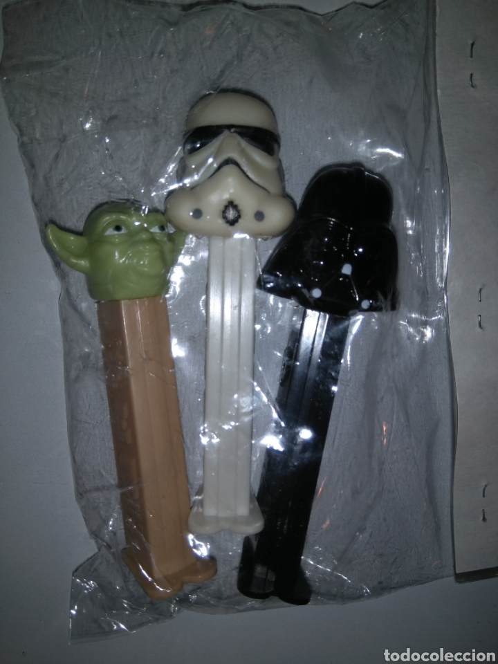 Dispensador Pez: Dispensadores Pez - Star Wars - Darth Vader + Yoda + Soldado imperialista - Foto 1 - 147224200