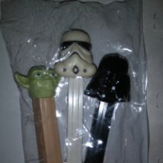Dispensador Pez: DISPENSADORES PEZ - STAR WARS - DARTH VADER + YODA + SOLDADO IMPERIALISTA. Lote 147224200