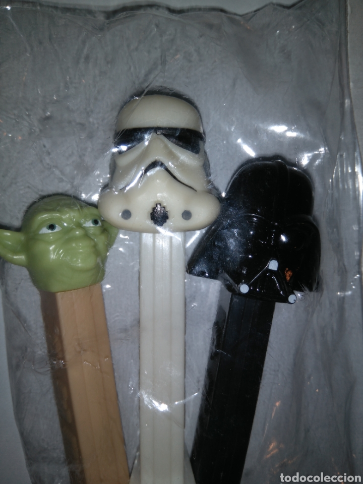 Dispensador Pez: Dispensadores Pez - Star Wars - Darth Vader + Yoda + Soldado imperialista - Foto 2 - 147224200