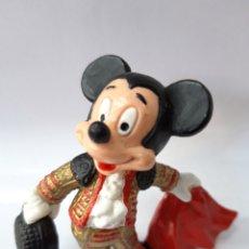 Figuras de Goma y PVC: MICKEY MOUSE TORERO FIGURA GOMA BULLYLAND MADE IN GERMANY. Lote 147284932