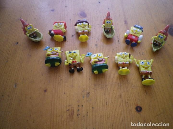 11 FIGURAS BOB ESPONJA KINDER (Juguetes - Figuras de Gomas y Pvc - Kinder)
