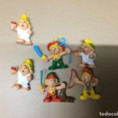 Figuras de Goma y PVC: 6 PITUFOS ROMANOS PVC. Lote 147376890