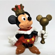 Figuras de Goma y PVC: ANTIGUA FIGURA EN PVC DE MICKEY MOUSE REY. BULLYLAND. MADE IN GERMANY.. Lote 112067450