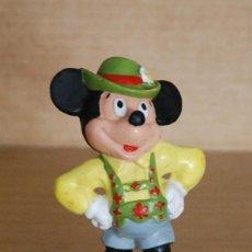 Figuras de Goma y PVC: FIGURA GOMA MICKEY MOUSE TIROLÉS. DISNEY BULLYLAND MADE IN GERMANY. Lote 147398994