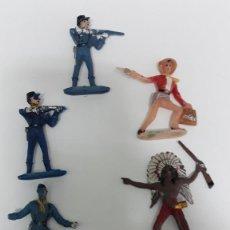 Figuras de Goma y PVC: INDIOS Y VAQUEROS COMANSI DECADA DE LOS 70. Lote 147402054
