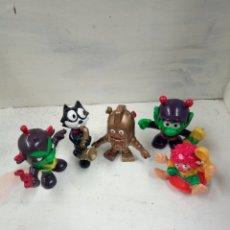 Figuras de Goma y PVC: PITUFOS DEL ESPACIO, PUMUKY, GATO FELIX. Lote 147524890