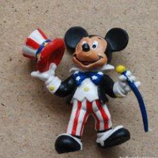 Figuras de Goma y PVC: FIGURA MICKEY TIO SAM - BULLY WEST GERMANY EUROPE THE WALT DISNEY COMPANY 1989. Lote 147533230