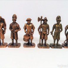 Figuras Kinder: LOTE DE ANTIGUAS FIGURAS DE METAL . SERIE SOLDADOS. KINDER FERRERO. Lote 128732651