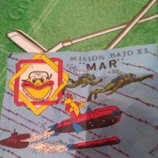 Figuras de Goma y PVC: ANTIGUO SOBRE, MISION BAJO EL MAR. Lote 147569122