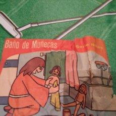 Figuras de Goma y PVC: ANTIGUO SOBRE, BAÑO DE MUÑECAS. Lote 147571978