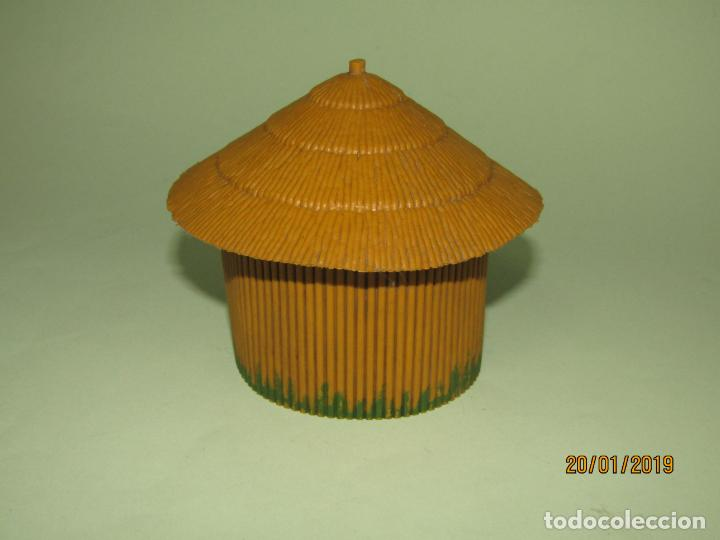 Figuras de Goma y PVC: Antigua CABAÑA O CHOZA en Plástico de la Serie SAFARI de PECH Hnos. - Año 1960s. - Foto 2 - 147783962
