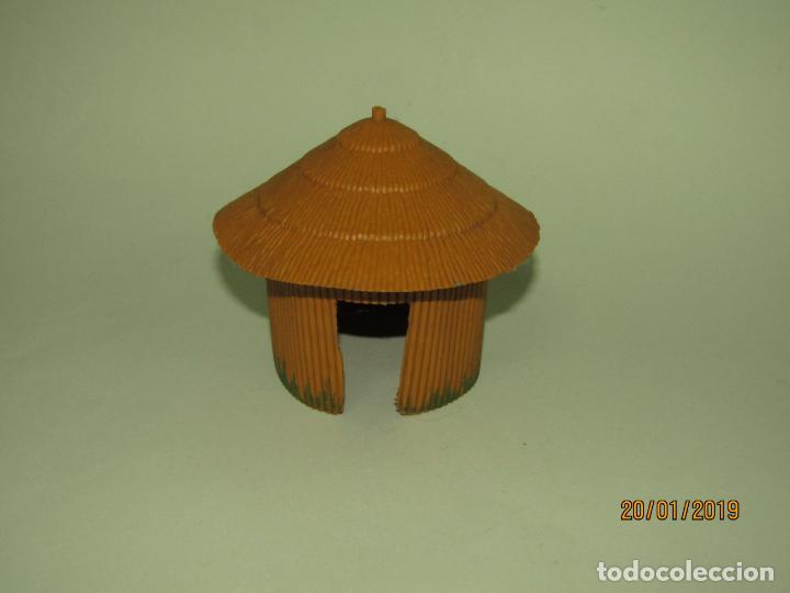 Figuras de Goma y PVC: Antigua CABAÑA O CHOZA en Plástico de la Serie SAFARI de PECH Hnos. - Año 1960s. - Foto 5 - 147783962