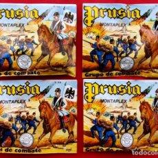 Figuras de Goma y PVC: MONTAPLEX. LOTE DE 4 SOBRES CERRADOS. NUEVOS. SIN ABRIR. PRUSIA. Nº 166. LOTE 6.. Lote 147853106