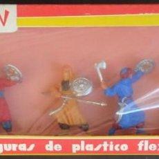 Figuras de Goma y PVC: JECSAN MOROS REF 611 CAJA. Lote 148044842