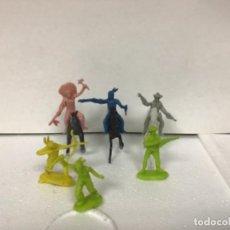 Figuras de Goma y PVC: LOTE MONOCOLOR MINI COMANSI MINICOMANSI OESTE WESTERN INDIOS. Lote 148053474