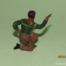 Figuras de Goma y PVC: ANTIGUO VAQUERO COW BOY EN GOMA PINTADA DE PECH HNOS. - TIPO COMANSI REAMSA JECSAN - AÑO 1950S.. Lote 148107310
