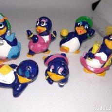 Figuras Kinder: LOTE DE 6 PINGÜINOS HUEVOS KINDER SORPRESA. Lote 148139034