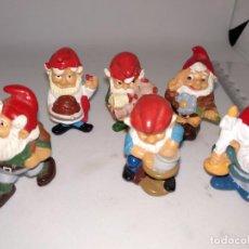 Figuras Kinder: LOTE DE 6 ENANITOS ENANOS GNOMOS HUEVOS KINDER SORPRESA. Lote 148139306