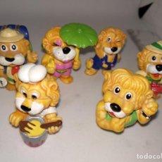 Figuras Kinder: LOTE DE SEIS LEONES LION HUEVOS KINDER SORPRESA. Lote 148139418