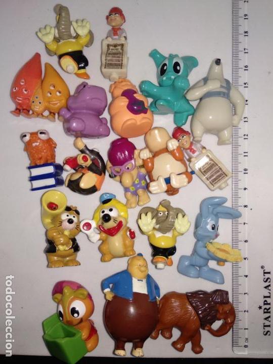 LOTE DE 19 FIGURAS HUEVOS KINDER SORPRESA FERRERO (Juguetes - Figuras de Gomas y Pvc - Kinder)