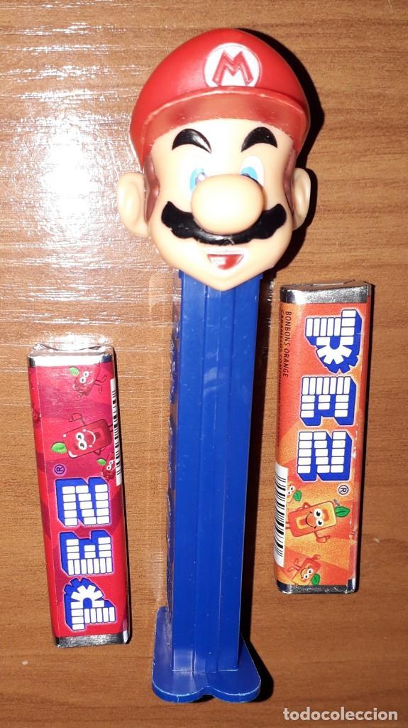 DISPENSADOR CARAMELOS PEZ SUPER MARIO BROS NINTENDO (Juguetes - Figuras de Gomas y Pvc - Dispensador Pez)