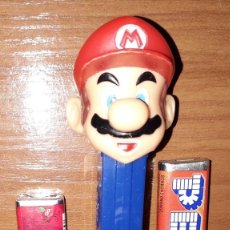 Dispensador Pez: DISPENSADOR CARAMELOS PEZ SUPER MARIO BROS NINTENDO. Lote 148150206
