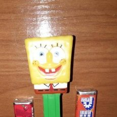 Dispensador Pez: DISPENSADOR CARAMELOS PEZ BOB ESPONJA NICKELODEON. Lote 148154594