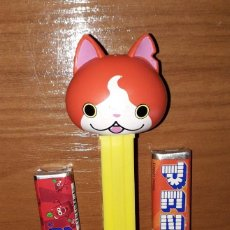 Dispensador Pez: DISPENSADOR CARAMELOS PEZ YO-KAY WATCH JIBANYAN. Lote 148158282