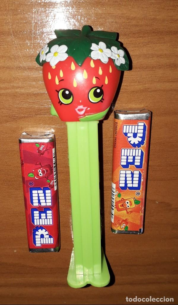 Dispensador Pez: DISPENSADOR CARAMELOS PEZ SHOPKINS STRAWBERRY KISS - Foto 1 - 148159674