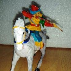 Figuras de Goma y PVC: SERIE COSACO VERDE ESTEREOPLAST. . Lote 148261154