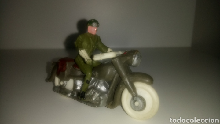 MOTO MILITAR DE M. SOTORRES. AÑOS 60. (Juguetes - Figuras de Goma y Pvc - Sotorres)