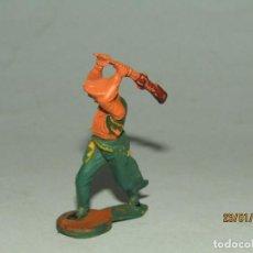 Figuras de Goma y PVC: ANTIGUO VAQUERO COW BOY EN GOMA PINTADA DE GAMA. Lote 148354978