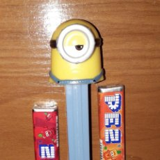 Dispensador Pez: DISPENSADOR CARAMELOS PEZ MINIONS MINION STUART. Lote 148477318