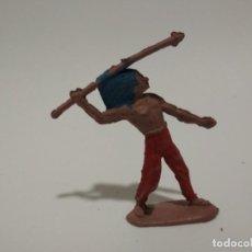 Figuras de Goma y PVC: FIGURA INDIO EN GOMA REAMSA. Lote 148482554