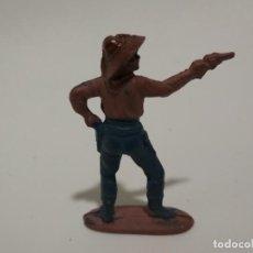 Figuras de Goma y PVC: FIGURA VAQUERO EN GOMA REAMSA. Lote 148482638