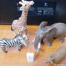Figuras de Goma y PVC: 4 ANIMALES GRANDES DE GOMA MACIZA (JUGUETE). Lote 148588057