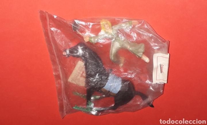 SIGRID A CABALLO, SERIE EL CAPITÁN TRUENO, PLÁSTICO, ESTEREOPLAST BARCELONA, ORIGINAL AÑOS 60. (Spielzeug - Gummi- und PVC-Figuren - Estereoplast)