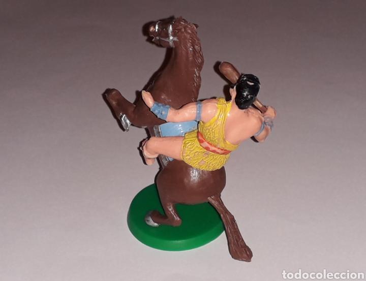 Gummi- und PVC-Figuren: Taurus a caballo, serie El Jabato, plástico, Estereoplast Barcelona, original años 60. - Foto 4 - 148596442