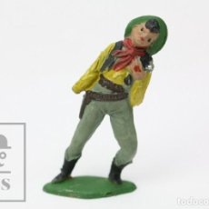 Figuras de Goma y PVC: FIGURA DE PLÁSTICO / GOMA DE TEIXIDÓ - VAQUERO HERIDO. INDIOS Y VAQUEROS - AÑO 1958. Lote 148753114