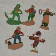Figuras de Goma y PVC: VINTAGE - LOTE CAMPESINOS, ESPANTAPÁJAROS Y OTRAS FIGURAS VARIADAS - OLIVER, PUIG, PECH..- ENVÍO 24H. Lote 148958022