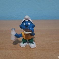 Figuras de Borracha e PVC: PITUFO CON BOCADILLO 1999 SCHLEICH PEYO. Lote 149214088